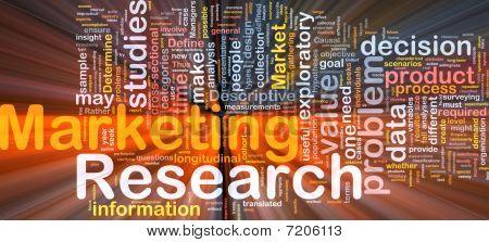 Marketing concepto de fondo de la investigación que brilla intensamente