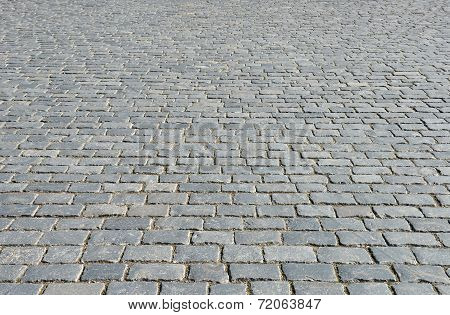 Old Cobblestone Pavement.