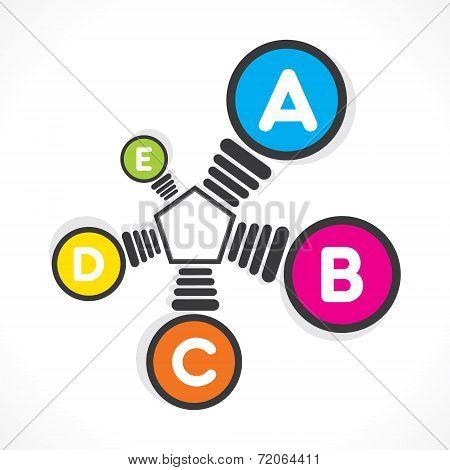 colorful bulb info-graphics design concept