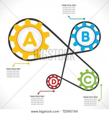 creative industrial info-graphics design concept vector