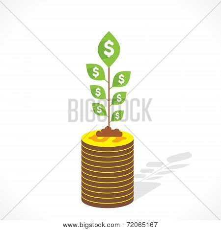 money grow concept vector