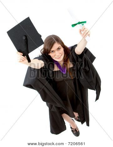 Graduation Woman Portrait - Top View