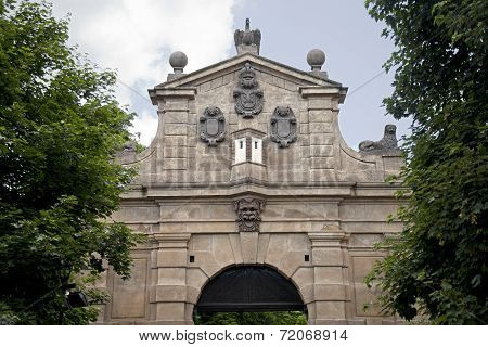 Gate In Vysehrad, Prague, Czech Republic