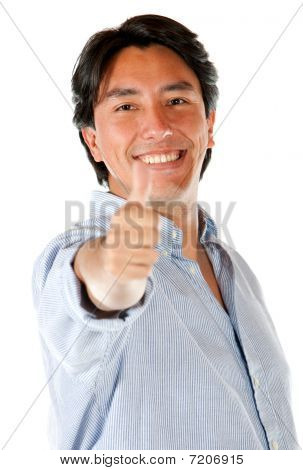 Casual Man With Thumb Up