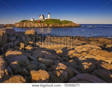Lighthouse on the Maine coast