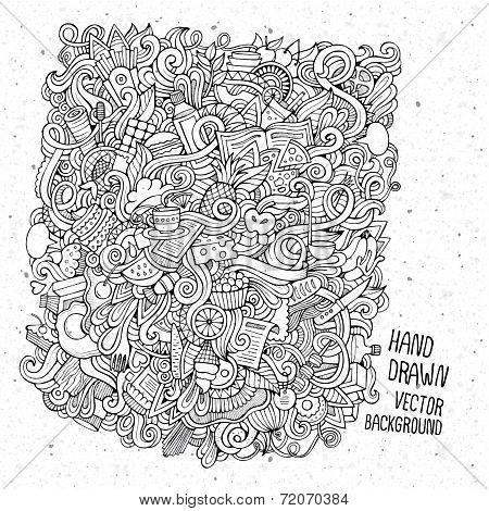 hand drawn food sketch background