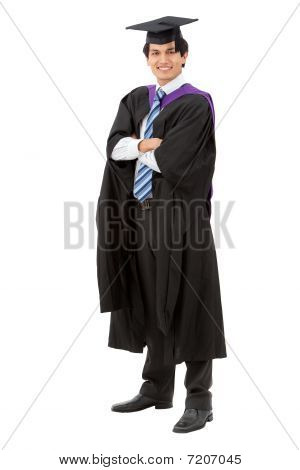 Graduation Man Portrait