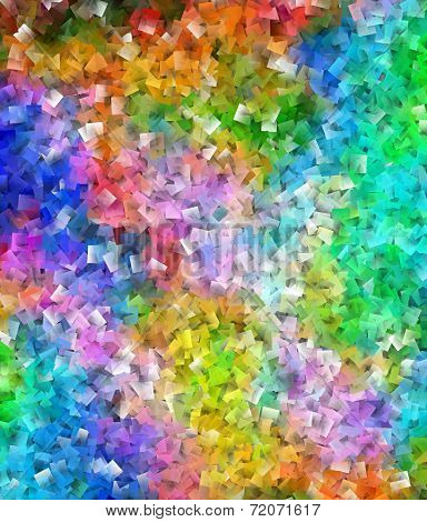 Abstract Colorful Cubist Pattern-squared Layered Background