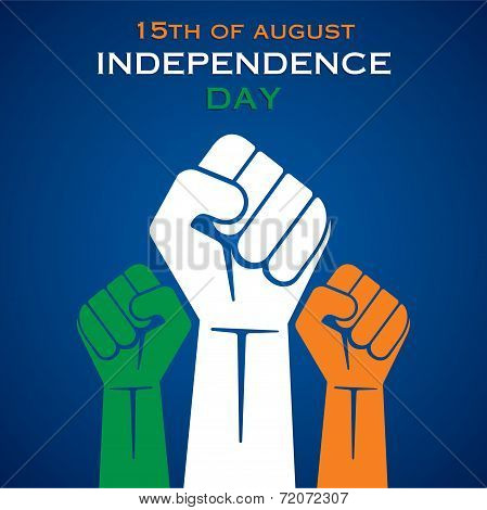illustration of hand fist in Indian tricolor concept