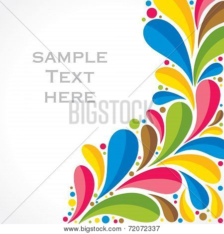creative colorful flora background