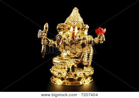 The Image Of The God Ganesh.