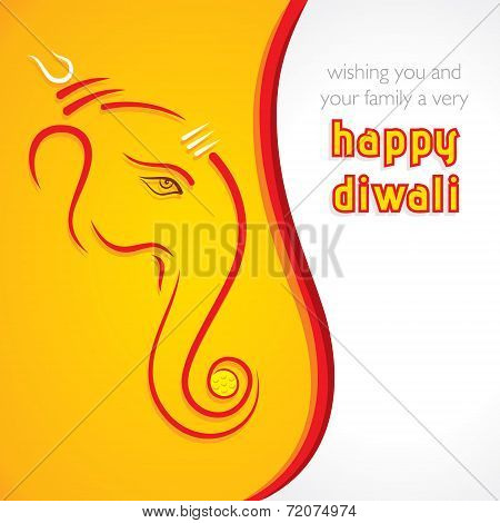 creative happy Diwali greeting card background vector