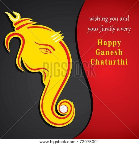 happy ganesh chaturthi festival greeting card background vector