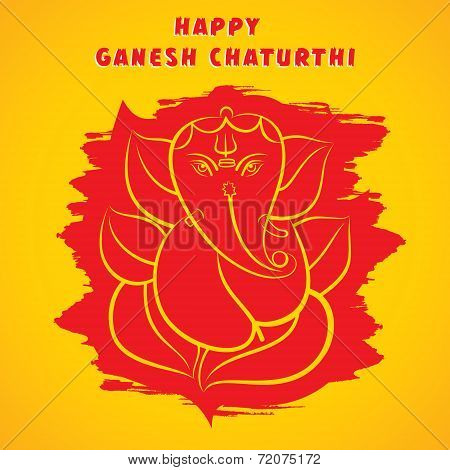Happy ganesh chaturthi sketch greeting card design background vector happy ganesh chaturthi sketch greeting card design background vector poster m4hsunfo
