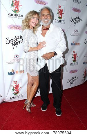 LOS ANGELES - SEP 13:  Tommy Chong, Shelby Chong at the 2014 Brent Shapiro Foundation Summer Spectacular at Private Residence on September 13, 2014 in Beverly Hills, CA