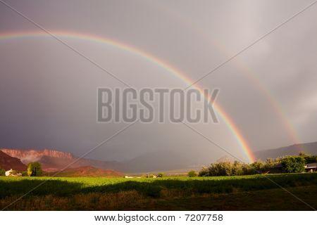 Double Rainbow over Castle Valley UT