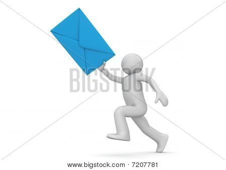 Messenger - Human With Blue Envelope
