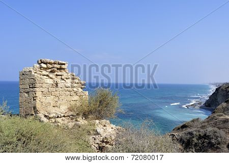 Apollonia Fortress Near Tel Aviv.