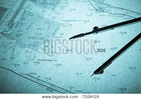 Surveyor's Plan And Circle With Backlight