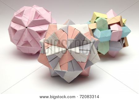 Group Of 3D Origami Balls