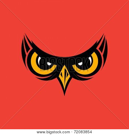 Vector illustration of owl