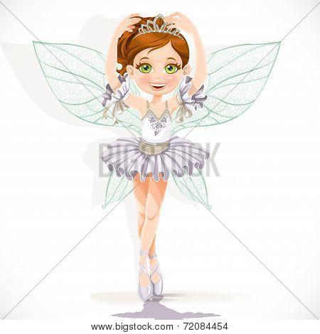 Beautiful fairy girl in white dress