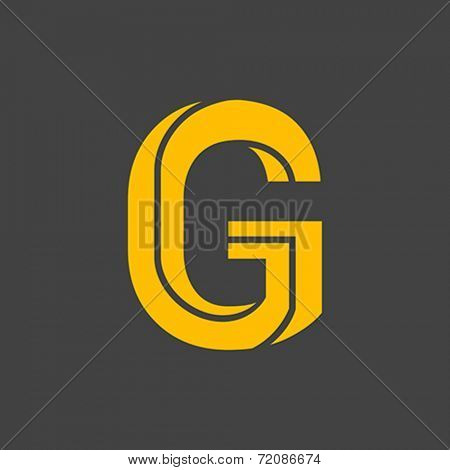 Letter G vector alphabet impossible shape.  ABC concept type as logo. Typography design