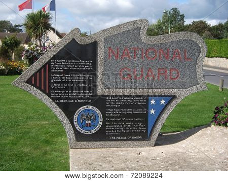 Sergeant Peregory National Guard Monument Normandy