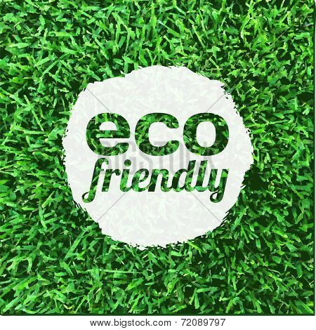 Eco Friendly Banner, Vector Illustration