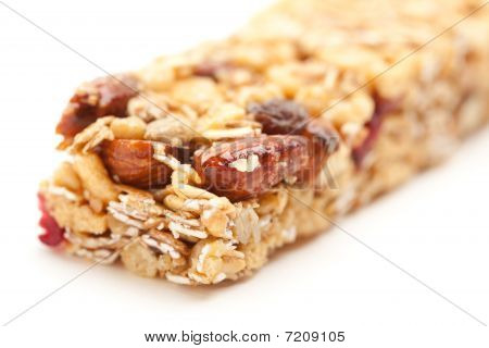 Granola Bar Isolated On White