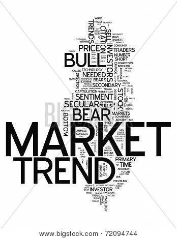 Word Cloud Market Trend