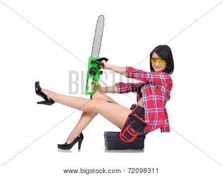 Girl Sitting On Box