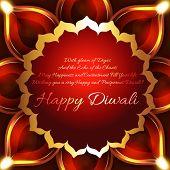 stock photo of diya  - Vector beautiful background of diwali diya - JPG