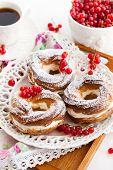 stock photo of cream puff  - Cream puff rings  - JPG