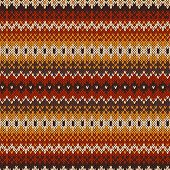 pic of knitting  - Nordic traditional Fair Isle style seamless pattern on the wool knitted texture - JPG