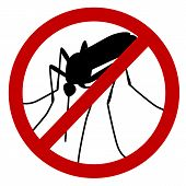 stock photo of mosquito  - No mosquito sign - JPG