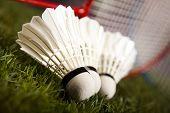 stock photo of shuttlecock  - Badminton shuttlecock - JPG