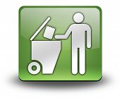 foto of dumpster  - Icon Button Pictogram with Trash Dumpster symbol - JPG