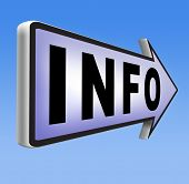 pic of more info  - information sign  banner or label to search more details and find online info - JPG