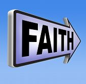 pic of jesus sign  - Faith and trust in God and Jesus road sign arrow - JPG