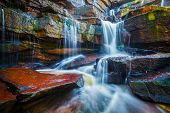 image of waterfalls  - Tropical waterfall - JPG