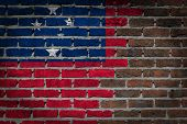 foto of samoa  - Dark brick wall texture  - JPG