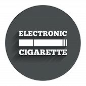 stock photo of e-cig  - Smoking sign icon - JPG
