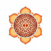 stock photo of kundalini  - Illustration of a orange sacral chakra mandala - JPG