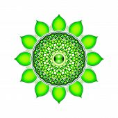 picture of kundalini  - Illustration of a green heart chakra mandala - JPG