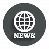 stock photo of universal sign  - News sign icon - JPG