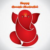 foto of ganesh  - happy ganesh chaturthi sketch greeting card design background vector - JPG
