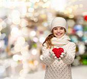 stock photo of pre-teen girl  - christmas - JPG