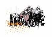 horse racing background