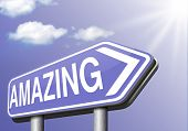stock photo of you are awesome  - mind blowing amazing and awesome wow factor  - JPG